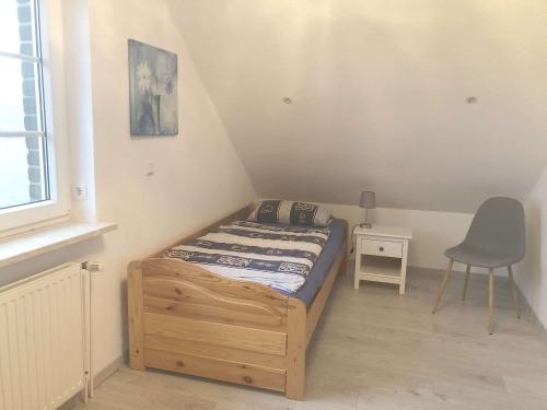 Schlafzimmer Obergeschoss mit 2 Einzelbetten