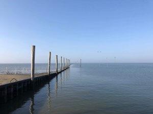 Hafen von Neßmersiel Fahrrinne nach Baltrum